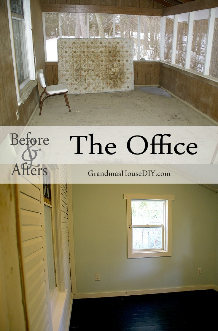 Before and After gallery of the office in our 100 year old farm house @GrandmasHousDIY