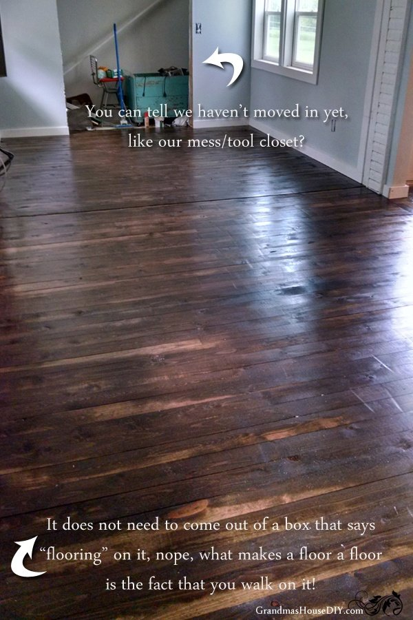 DIY cheap make your own solid wood floors for a fraction of the cost  @GrandmasHousDIY - How To Install An Inexpensive Wood Floor Do It Yourself!