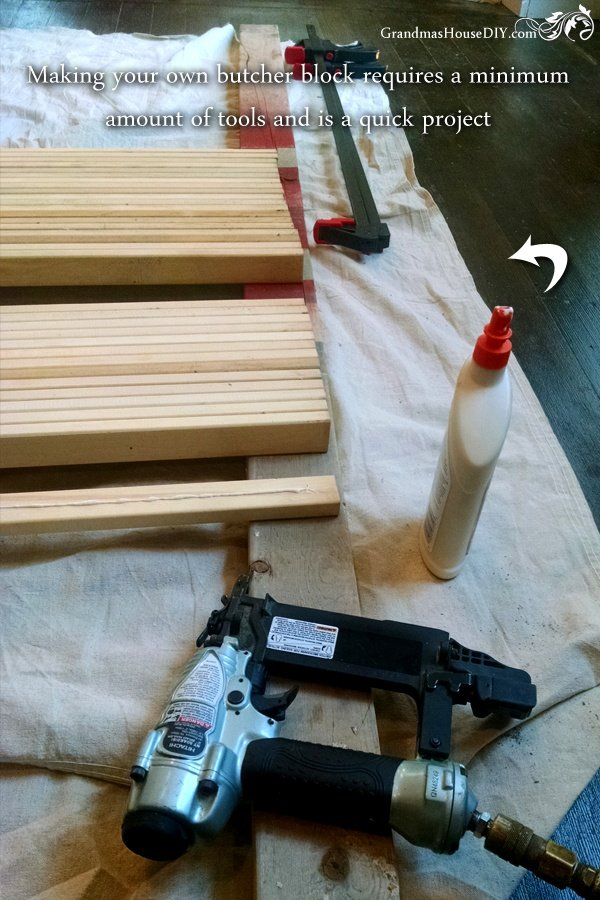 How to build a butcher block counter top