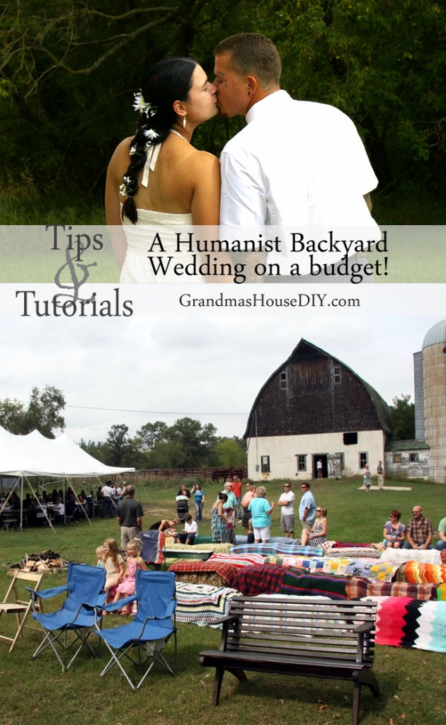 Humanist Wedding on a budget DIY in our backyard @GrandmasHousDIY