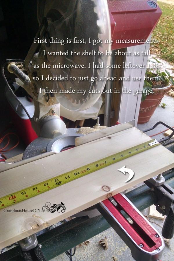 How to build a small shelf @GrandmasHousDIY