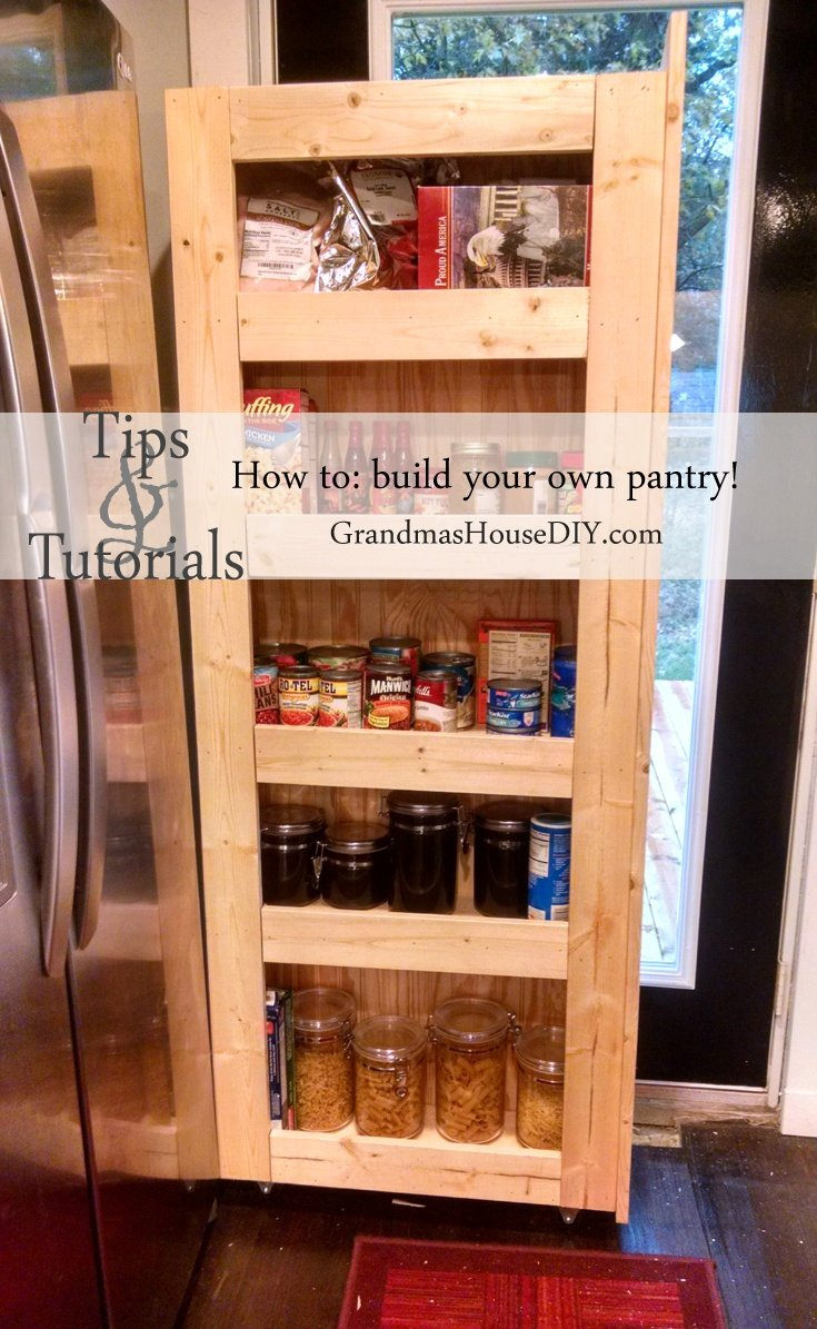 How to a build a rolling pantry @GrandmasHousDIY