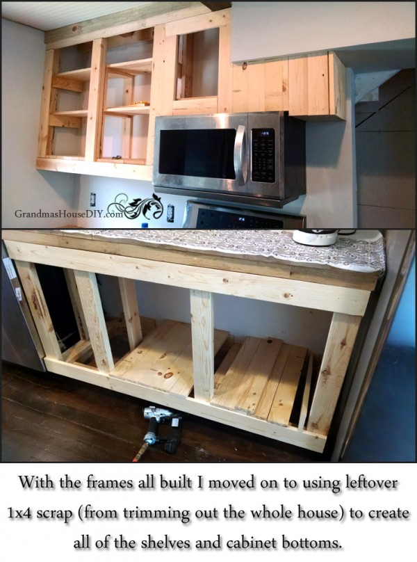 How to diy build your own white country kitchen cabinets for Simple diy kitchen ideas