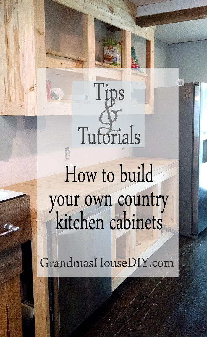 ... How To Build Your Own Kitchen Cabinets Country White Building Wood  Working Diy Do It Yourself