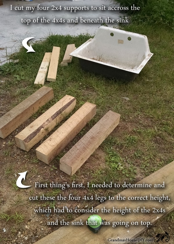 How to build a kitchen sink base @GrandmasHousDIY