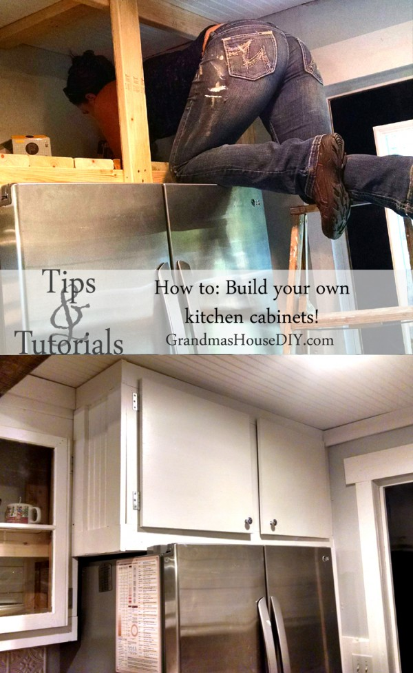 How to build kitchen cabinets @GrandmasHousDIY