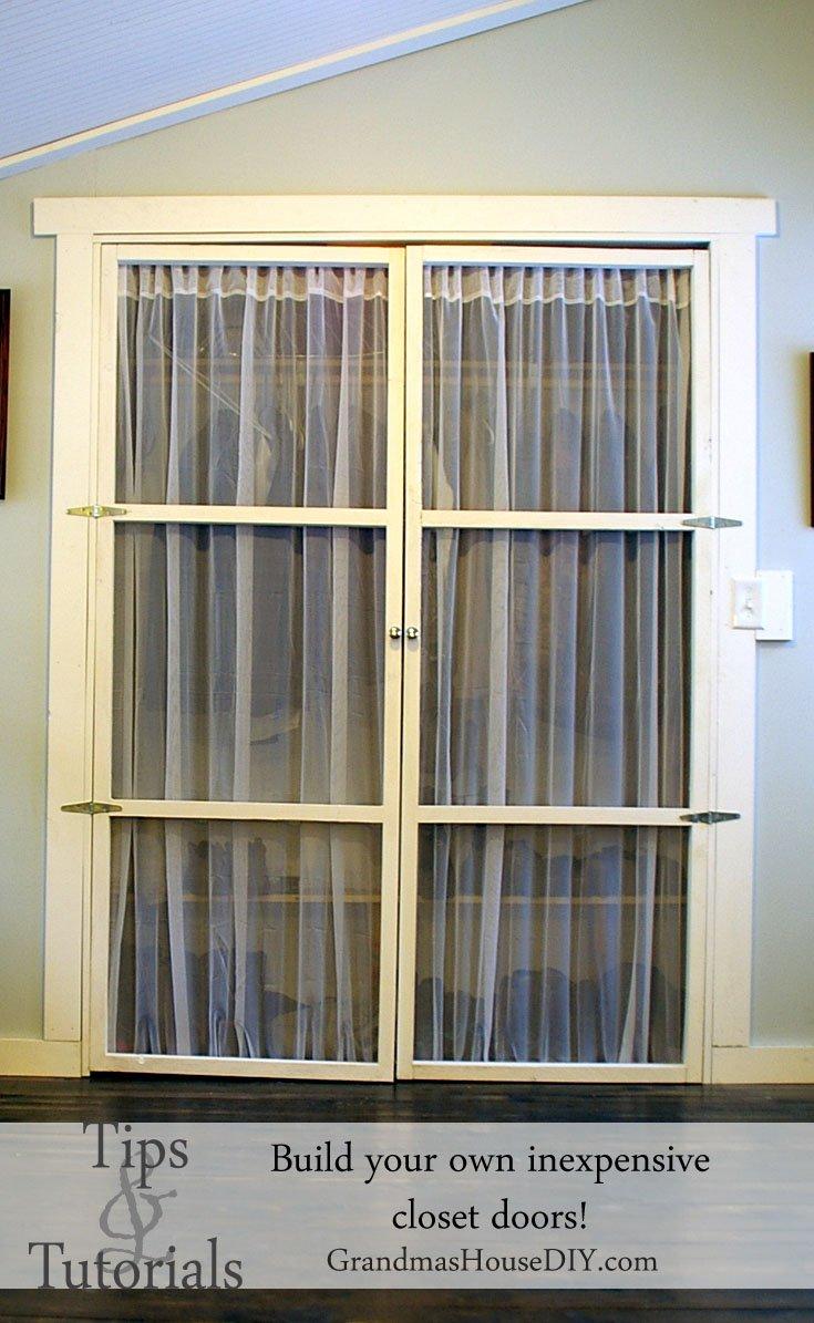 Build Your Own Inexpensive Closet Doors @GrandmasHousDIY