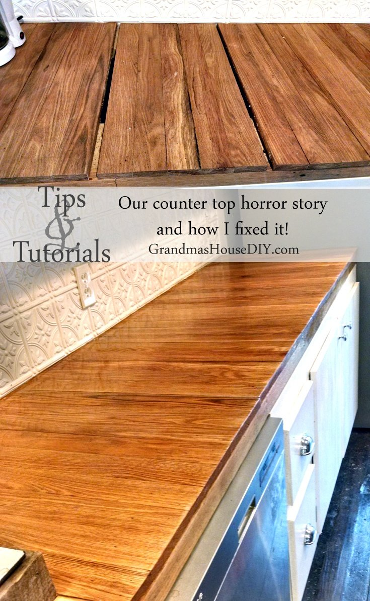 The Horror Story About Our Oak Kitchen Counter Tops How They Warped And Split