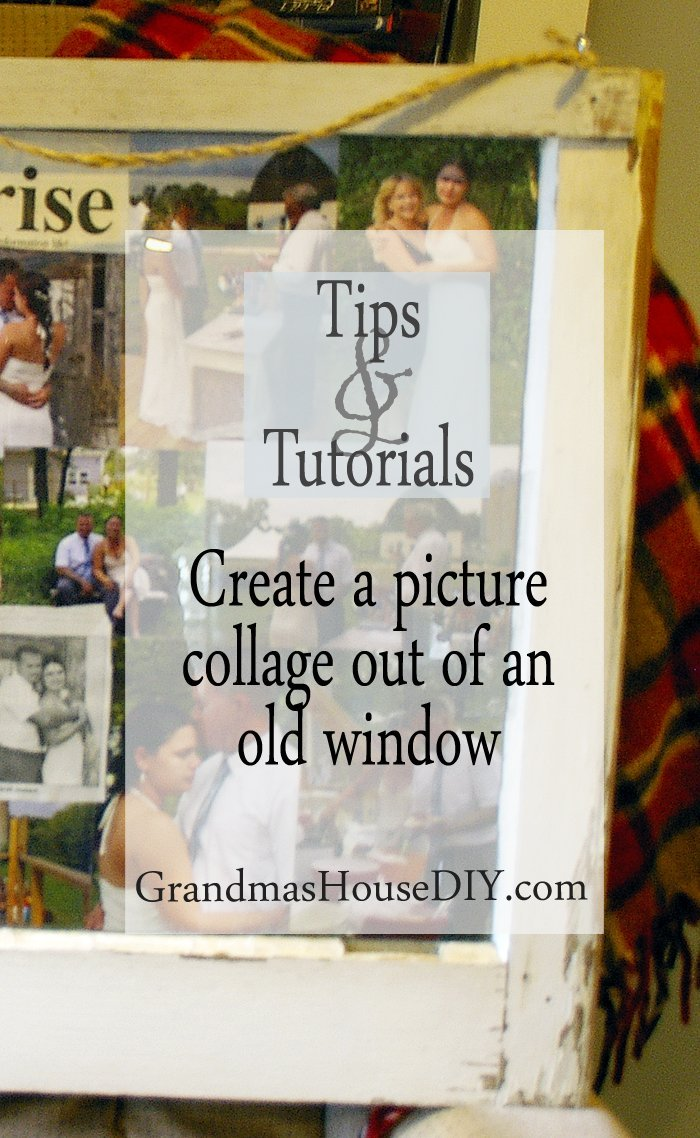 How to create a picture photo collage gallery out of an old window, diy, do it yourself, tutorial, craft