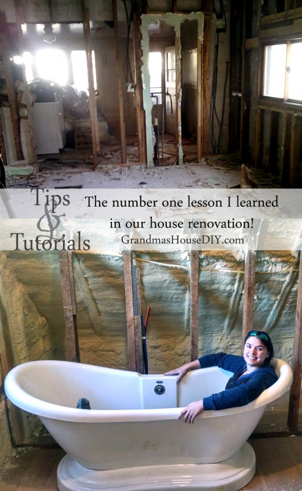 The number one lesson i learned during my home renovation for Renovating a 100 year old farmhouse