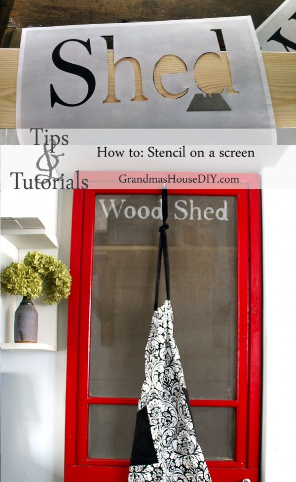 How to stencil on a screen, DIY on a red screen door