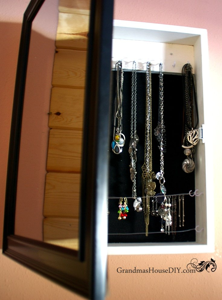 How To Build A Jewelry Cabinet For Necklaces And Earrings