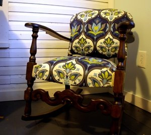 Rocking chair gets refinished and rehupolstered
