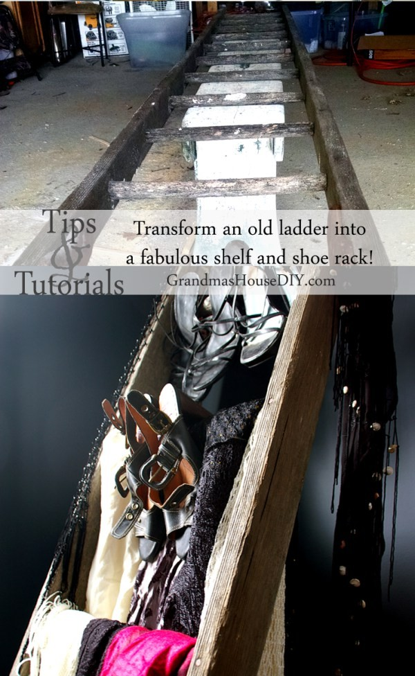 The top ten most popular posts in 2015 at Grandmas House DIY an old ladder upcycled into a shoe rack