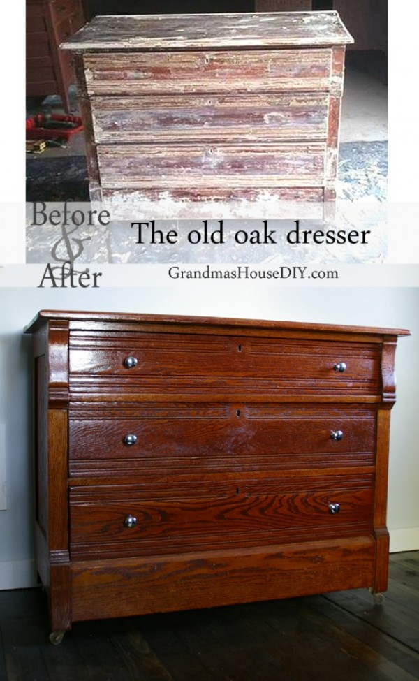 The top ten most popular posts in 2015 at Grandmas House DIY an oak dresser refinished