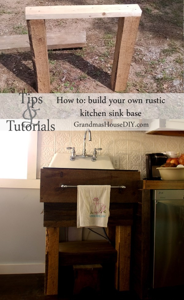The top ten most popular posts in 2015 at Grandmas House DIY how to build a rustic kitchen sink base