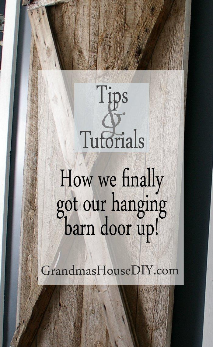 hanging barn door, country home, tutorial, diy, do it yourself, tutorial, wood working
