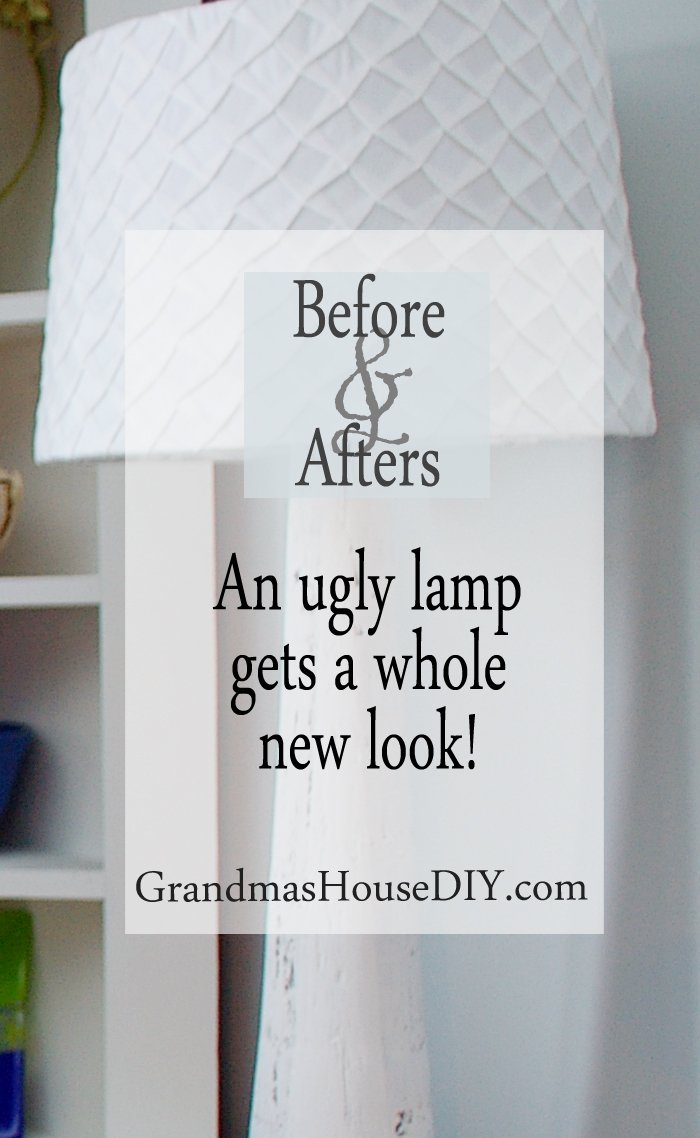 An ugly lamp gets a makeover with white paint and a new shade crat crafts crafty diy do it yourself simple easy cheap