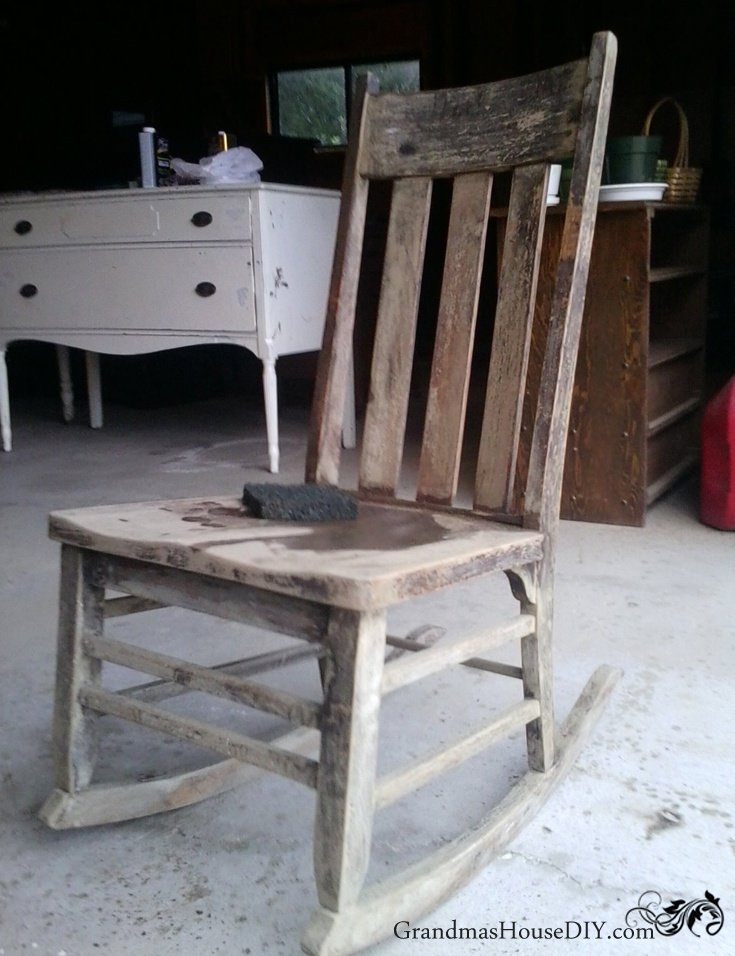 ... Two Rocking Chairs Sanded Down And Refinished Diy