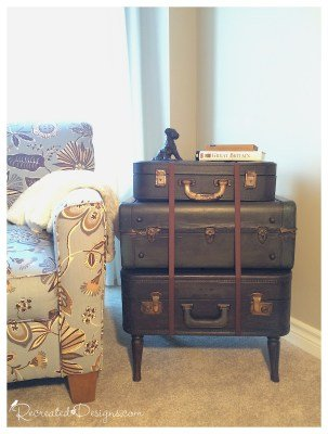 vintage suitcase side table a table made of suitcases