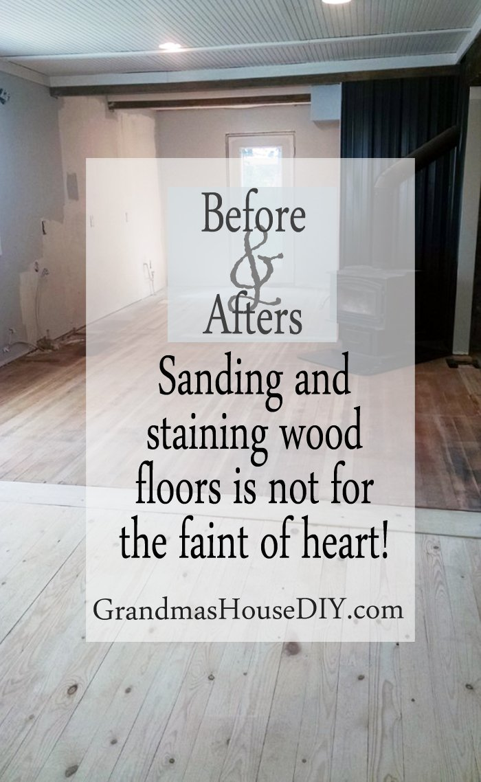 diy do it yourself sanding and staining wood floors is not for the faint of heart