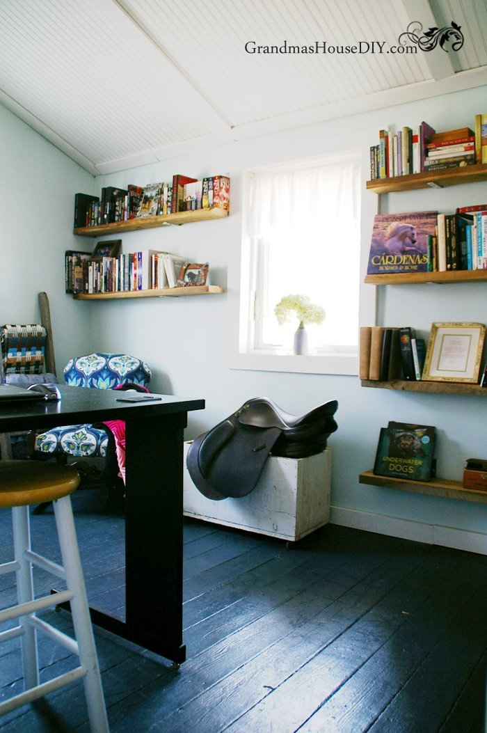 After fifteen months of diy remodeling and renovation we converted our screened in porch into my office. Come and see my office reveal on our home tour