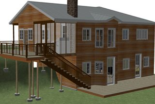 Free house plan with a stunning two story walk out basement