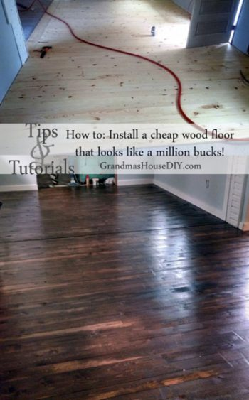How to install a cheap wood floor DIY that looks like a million dollars.