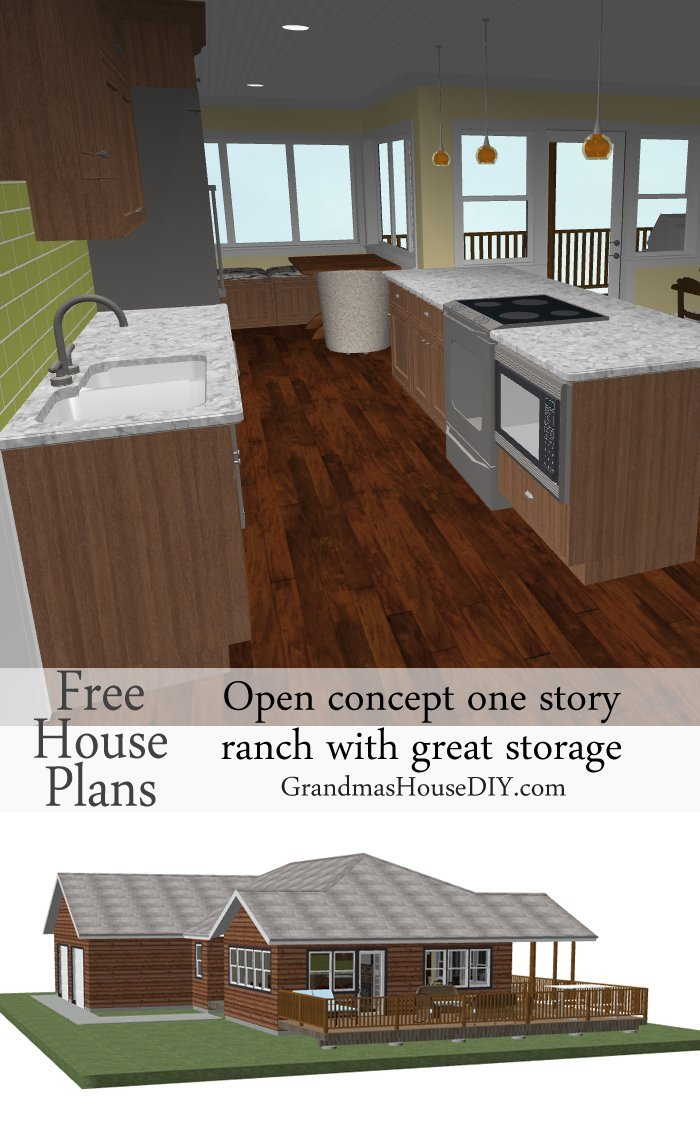Free House Plan An Easy Going One Story Ranch Grandmas