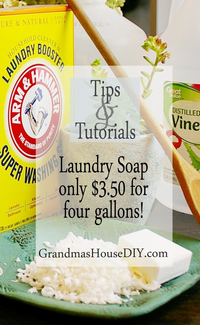 Homemade diy do it yourself laundry soap cheap inexpensive green frugal allergy free easy