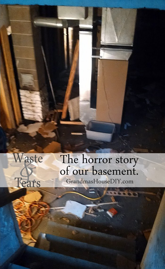 The sad, tear-filled, horror story of our basement, how we wasted so much time and money for nothing and now have a new renovation plan for a workshop.