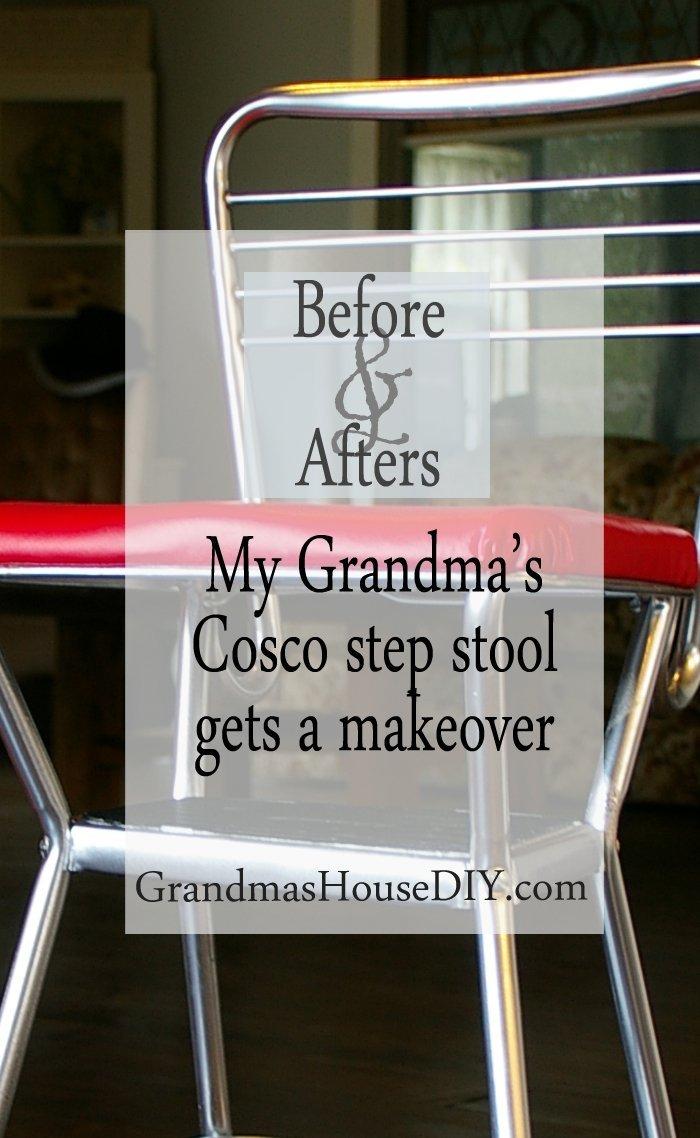 ... pinit-cosco-stool-makeover & My Grandmau0027s old Cosco step stool - Grandmas House DIY islam-shia.org