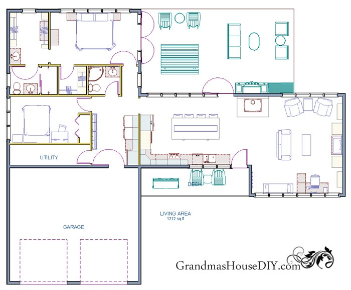 Free House Plan - With A Great Back Deck And A Deluxe Master