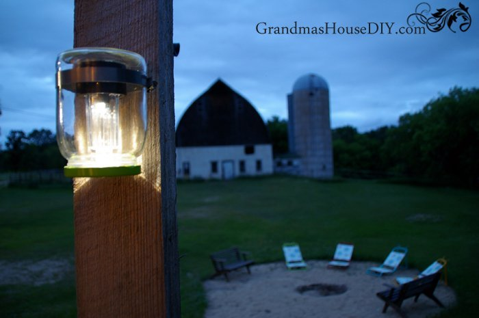 Mason Jar Solar Lights, shared by Grandma's House