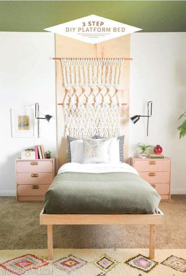 Bed frame inspiration board DIY, platform, wood working, build, tips and tutorials bed frame.