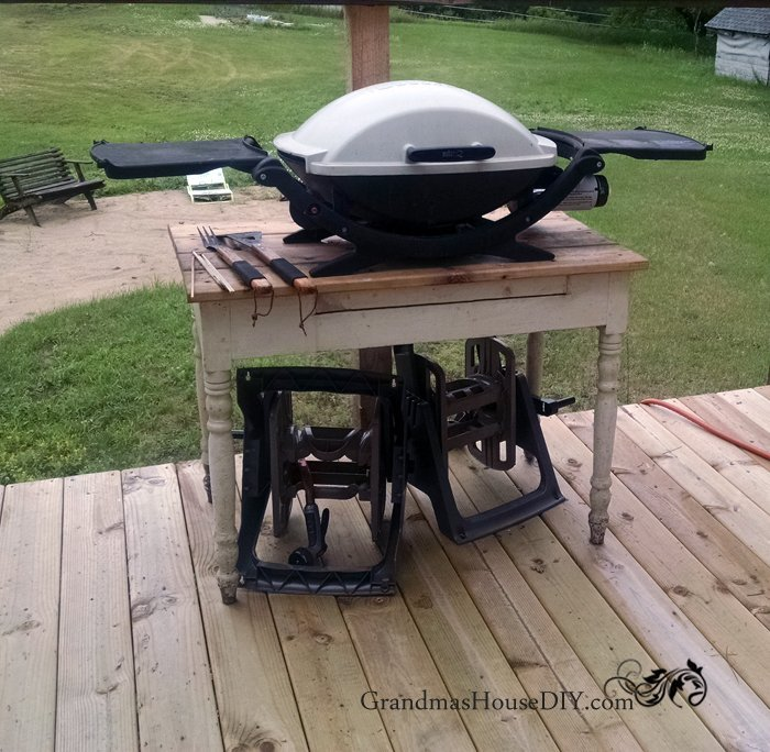 How to build an outdoor grill station DIY wood working