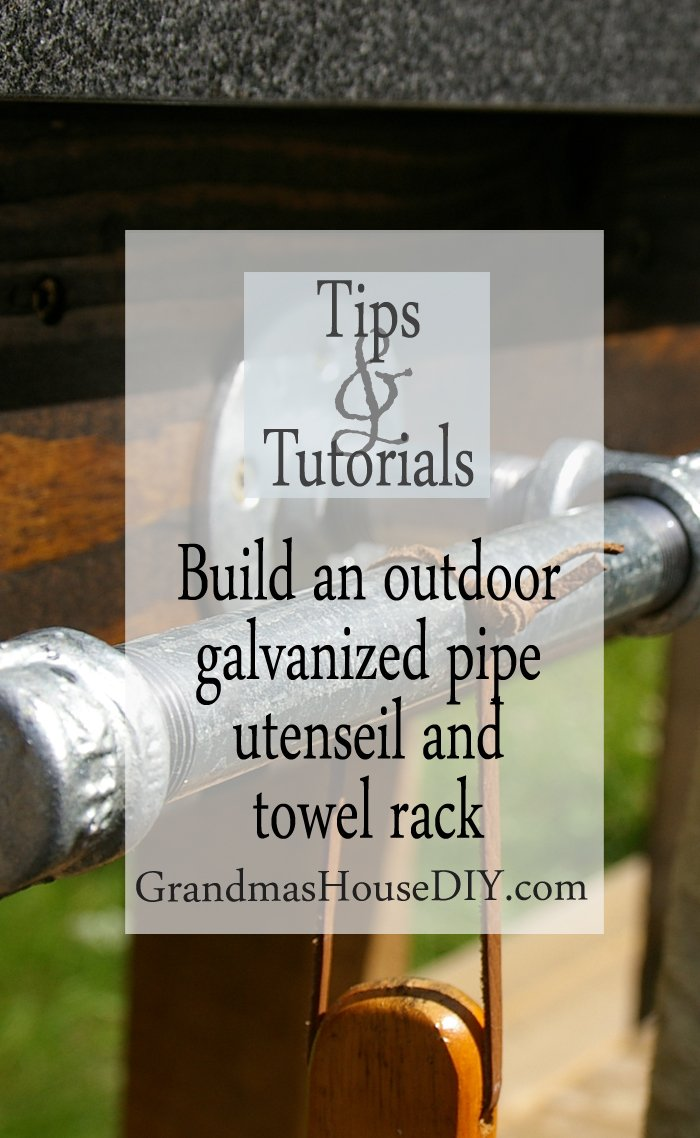 how to wood working tutorial outdoor grill and utensil galvanized pipe rack diy do it yourself