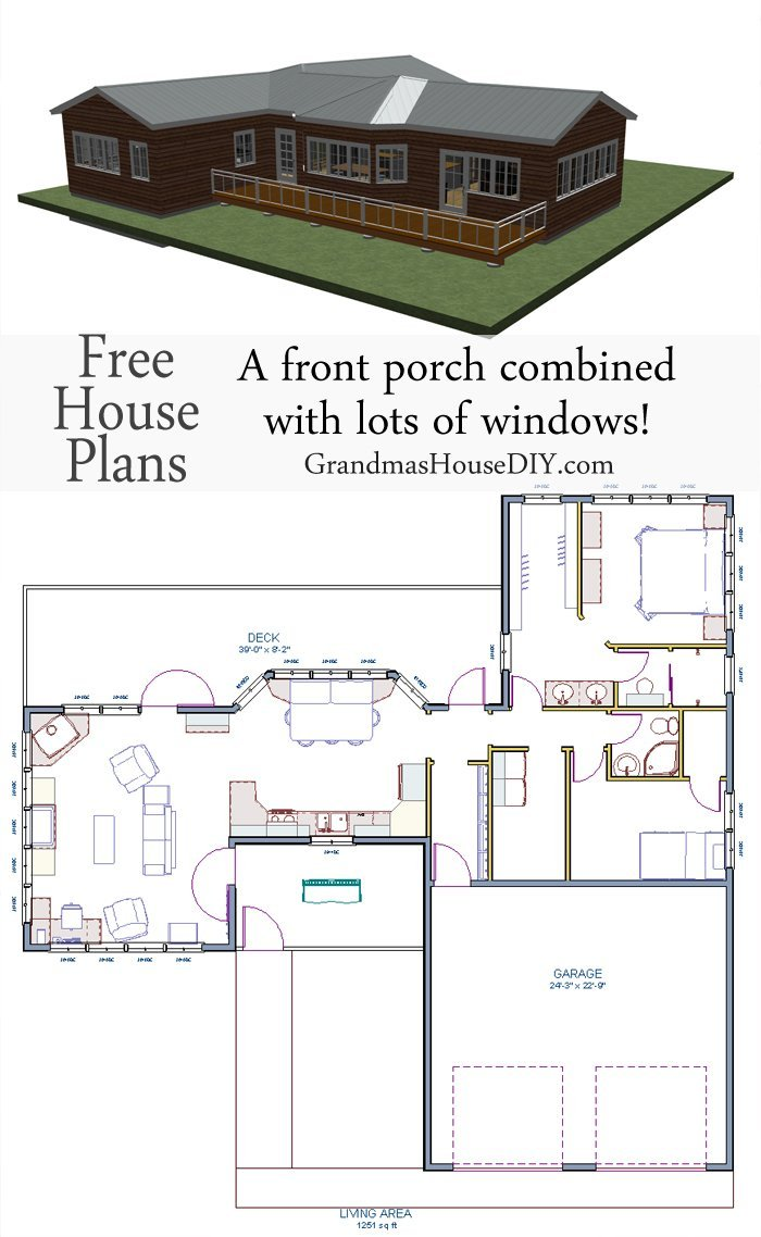 High Quality ... Free One Story 1200 Square Foot House Plan With A Hotel Esque Master  Suite,