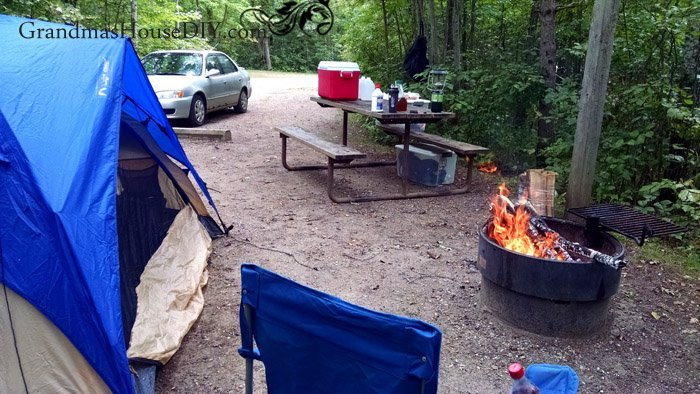 Camping and fishing, renting a boat, in late August in northern Minnesota lake country