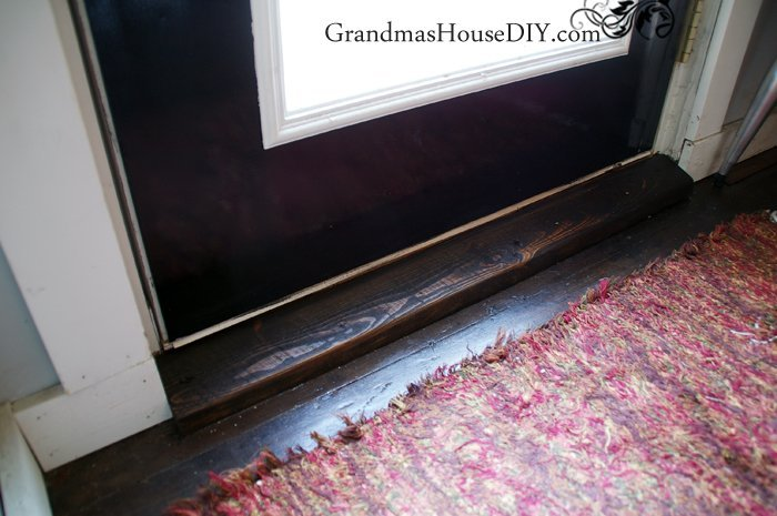 Building Door Thresholds by Hand, shared by Grandma's House DIY at The Chicken Chick's Clever Chicks Blog Hop