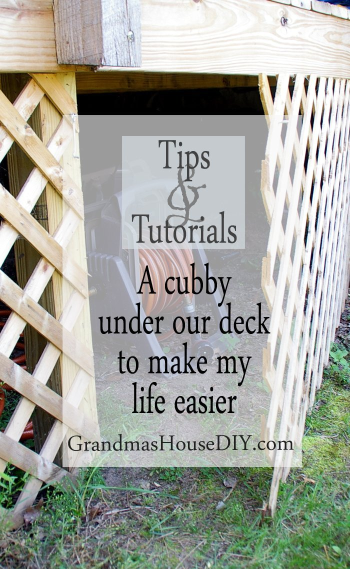 Creating a cubby under our lattice deck diy backyard hidden outdoor outside storage ideas