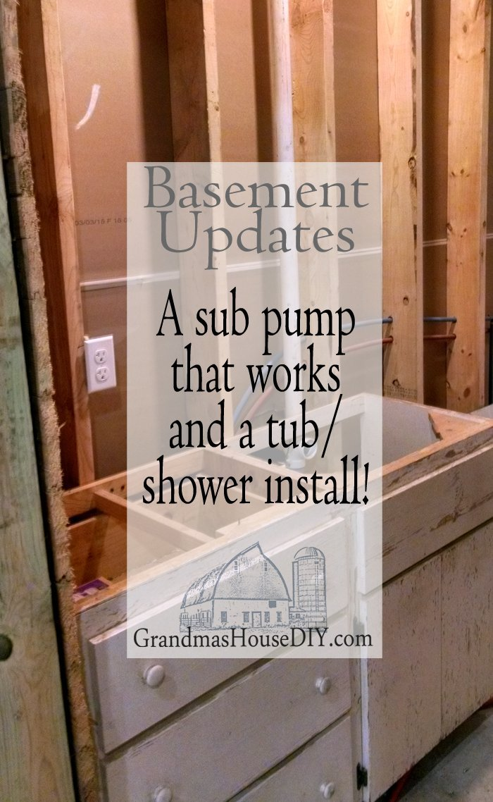 Basement renovation updates: The sub pump works!