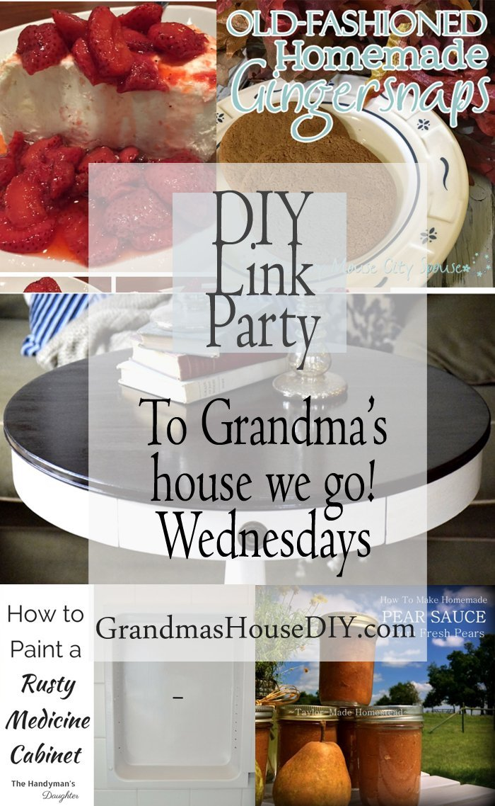 This link party is all about homemade, homemaking, DIY, recycling, upcycling, before and afters (of rooms, furniture, whatever), build projects, vintage, any kind of creative, frugal, time saving, money saving or green advice, canning and old fashioned recipes. Going back to simpler times, simpler days where we used all that we had and never bought new until there was absolutely no choice.
