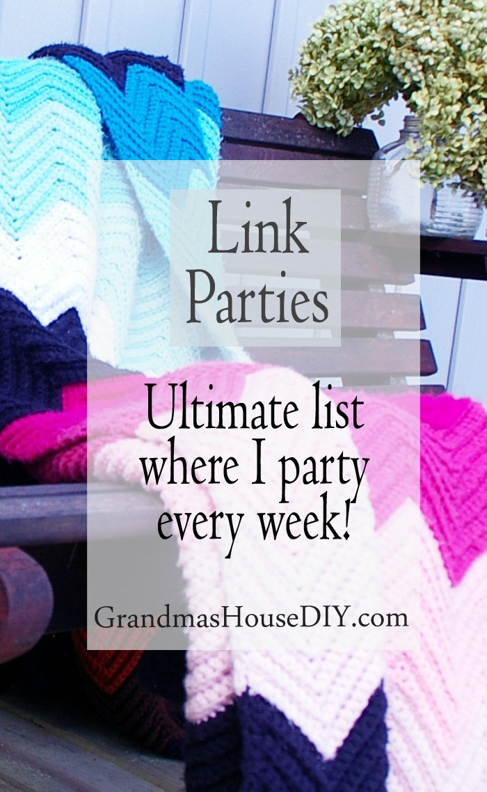 Ultimate huge full link party list for diy do it yourself wood working projects crafts homemaking homesteading thrifting furniture thrift cheap frugal