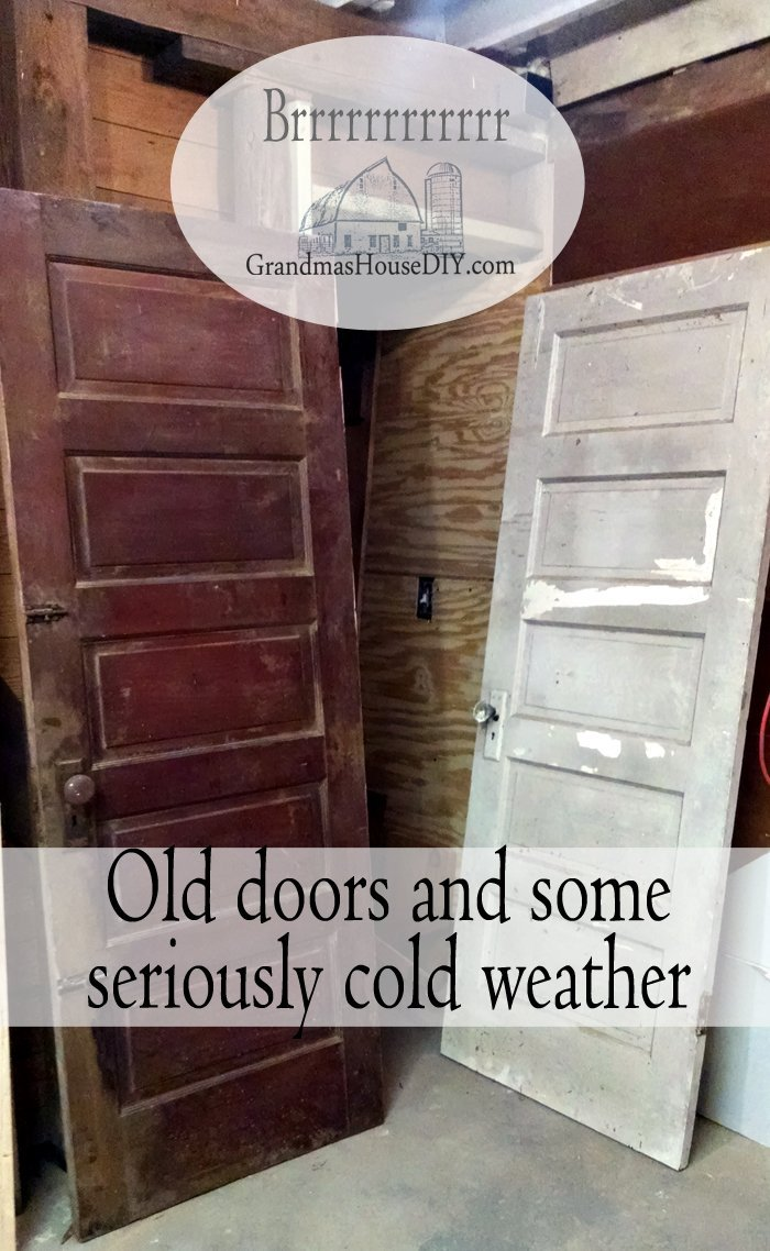 Old antique doors and some seriously cold weather