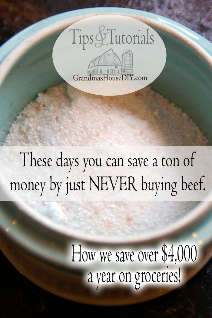 These days you can save a ton of money by just never buying beef,