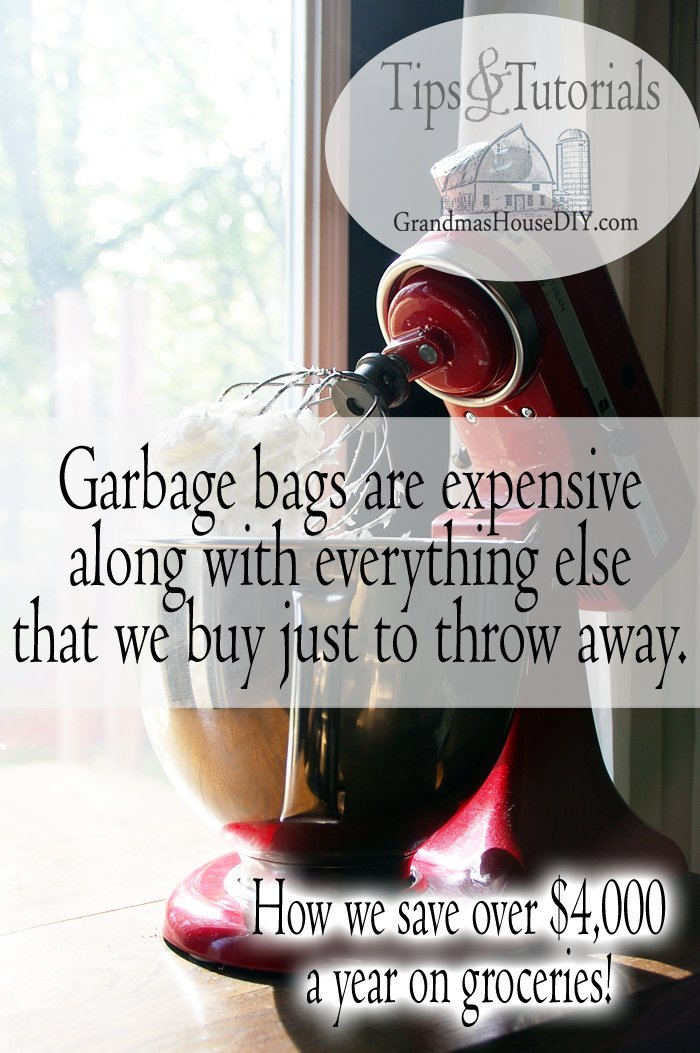 Garbage bags are expensive along with everything else that we buy just to throw away.