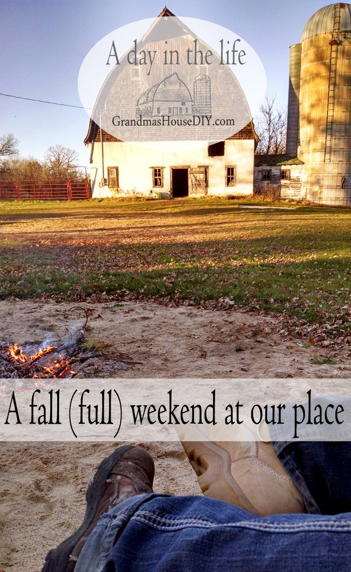 A fall (full) weekend in northern Minnesota at Grandma's House DIY!