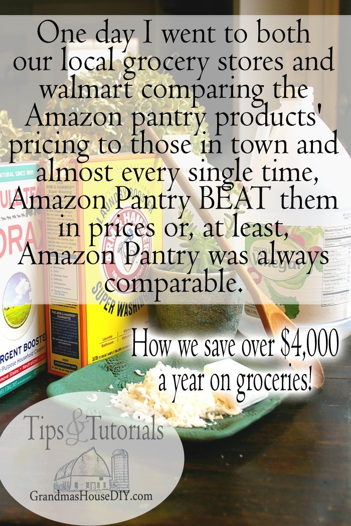 So, one day I spent a very ridiculous amount of time at both of our local grocery stores and walmart comparing the Amazon pantry products' pricing to those in town and, almost every single time, Amazon Pantry BEAT them in prices or, at least, Amazon Pantry was always comparable.