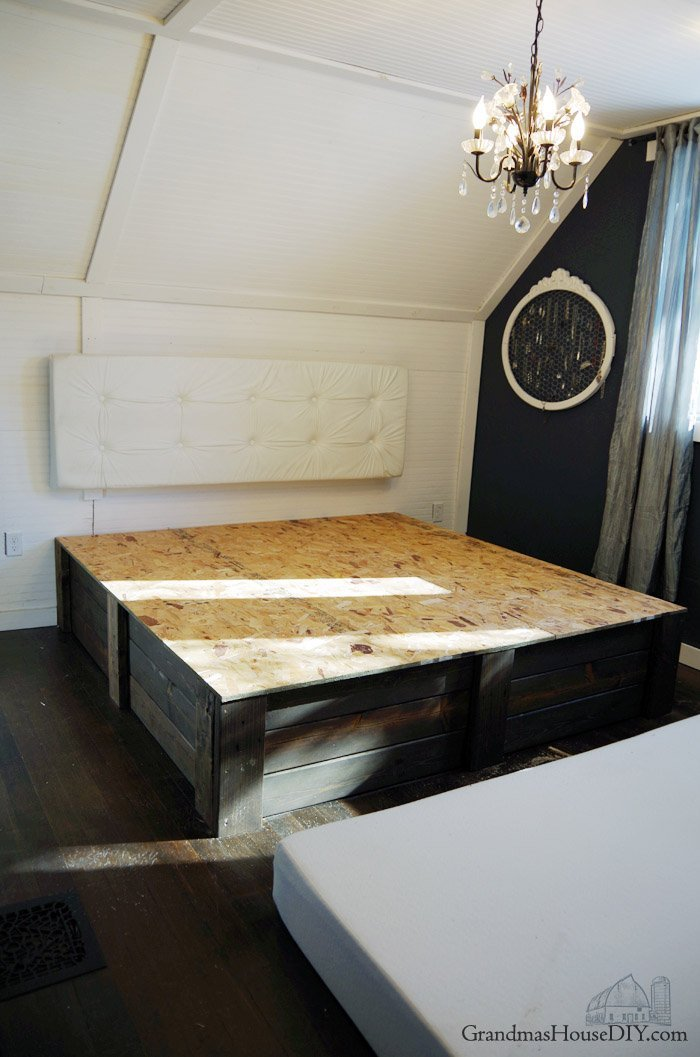 Build your own platform bed frame DIY - Grandmas House DIY